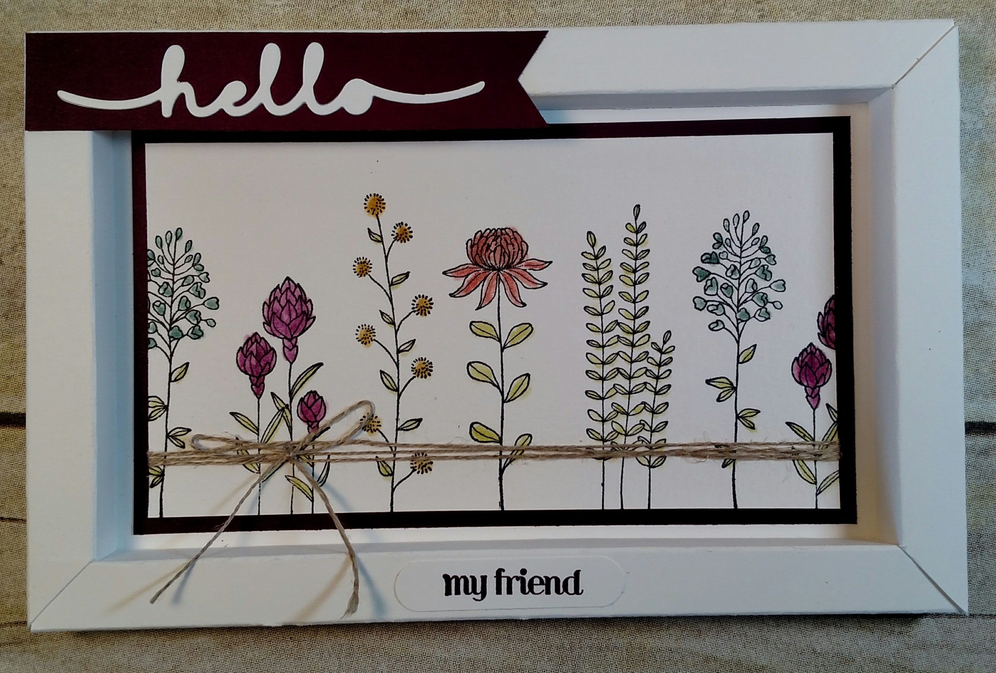 Fab Four Stamp Camp Shadow Box Frame Tutorial Stamps With Benefits