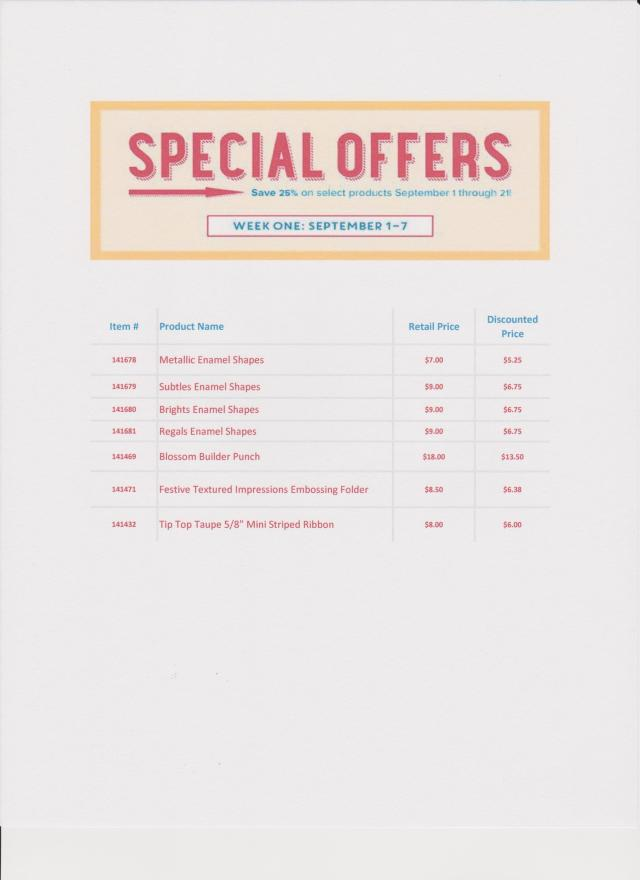 special offers week 1